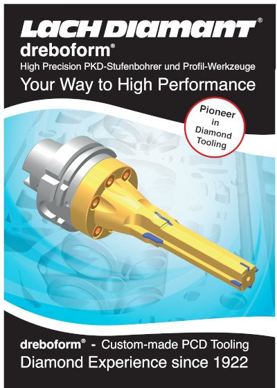 dreboform® High Precision PKD-Stufenbohrer und Pro l-Werkzeuge