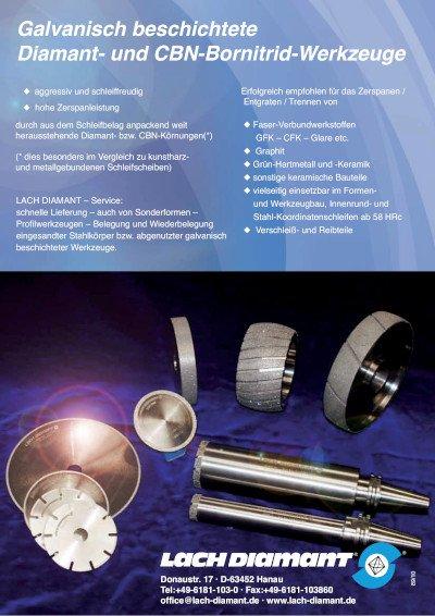 Galvanisch beschichtete Diamant- und CBN-Bornitrid-Werkzeuge