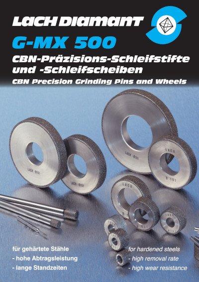 G-MX 500 CBN-Präzisions-Schleifstifte und -Schleifscheiben