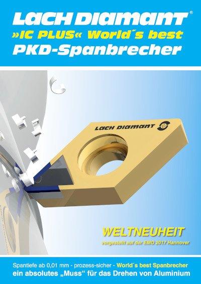 PKD-Schneidplatte mit aktivem Spanbrecher Internationale Patente