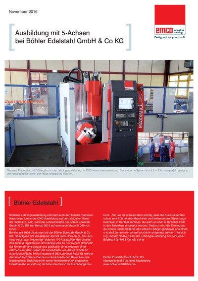 Anwenderbericht: Ausbildung bei Böhler Edelstahl GmbH & Co KG