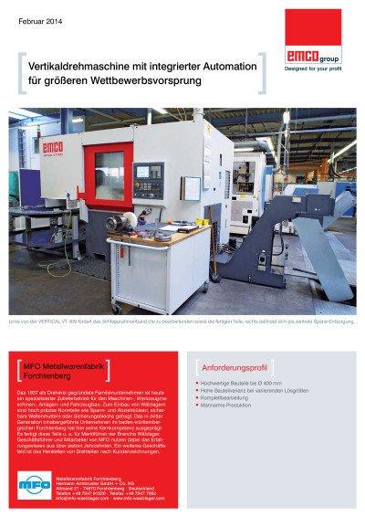 Anwenderbericht MFO Metallwarenfabrik Forchtenberg
