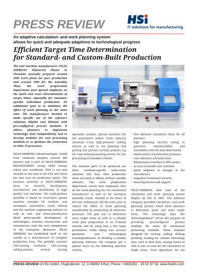 Efficient target time determination for standard- and custom-built production