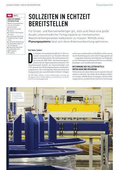Vorgabezeiten in Echtzeit bereit stellen - Anwenderbericht Schlatter Deutschland GmbH & Co. KG