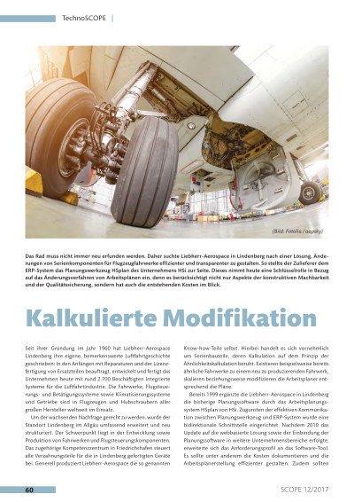 Liebherr Aerospace - Kalkulierte Modifikation