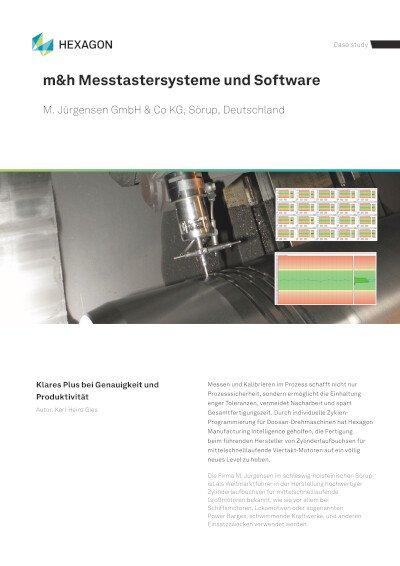 Anwenderbericht - M. Jürgensen GmbH & Co. KG, Sörup