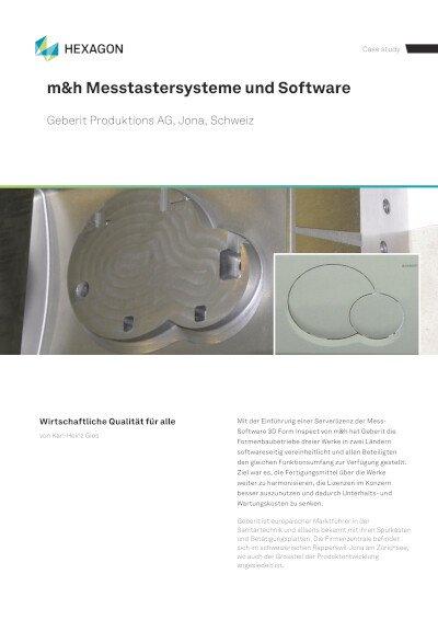Anwenderbericht - Geberit Produktions AG, Jona, Schweiz