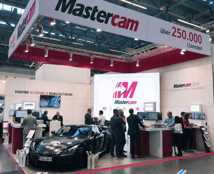 Mastercam im neuen Design auf der AMB 2018 in Halle 2 Stand 2C25