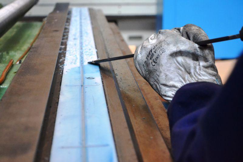 Hand scraping process
