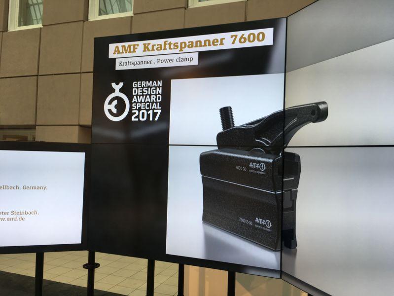 """Für seine hochwertige Gestaltung und die Kompaktheit erhält das vielseitig einsetzbare Profiwerkzeug, der AMF Kraftspanner 7600, die begehrte Auszeichnung """"SPECIAL 2017"""" in der Kategorie """"Excellent Product Design, Industry""""."""