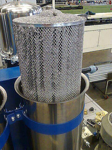 Filterkartusche nach der Filtration