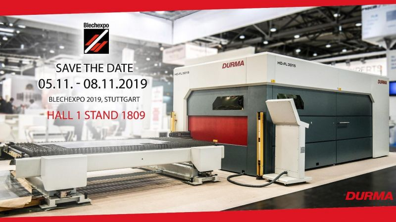 SAVE THE DATE: BLECHEXPO 05.11 - 08.11.2019 | DURMA