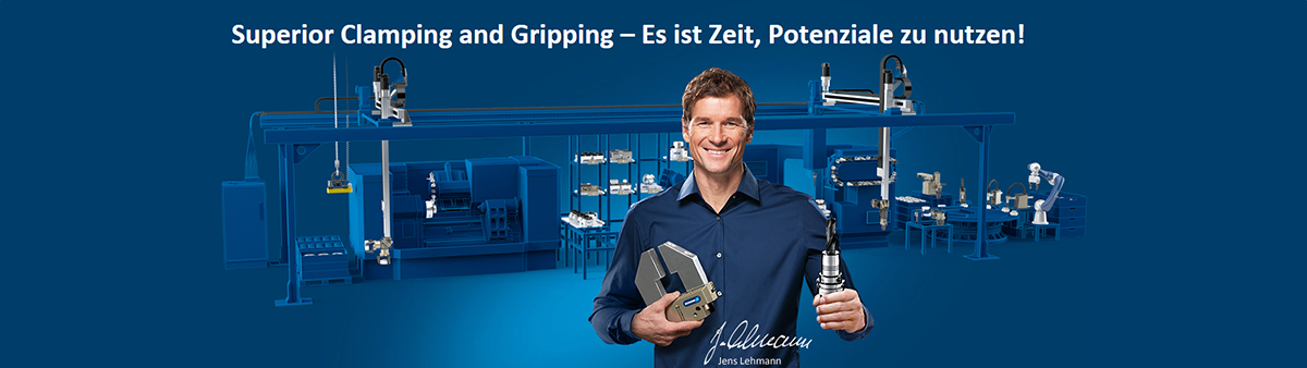 SCHUNK - Gripping and Clamping - Banner