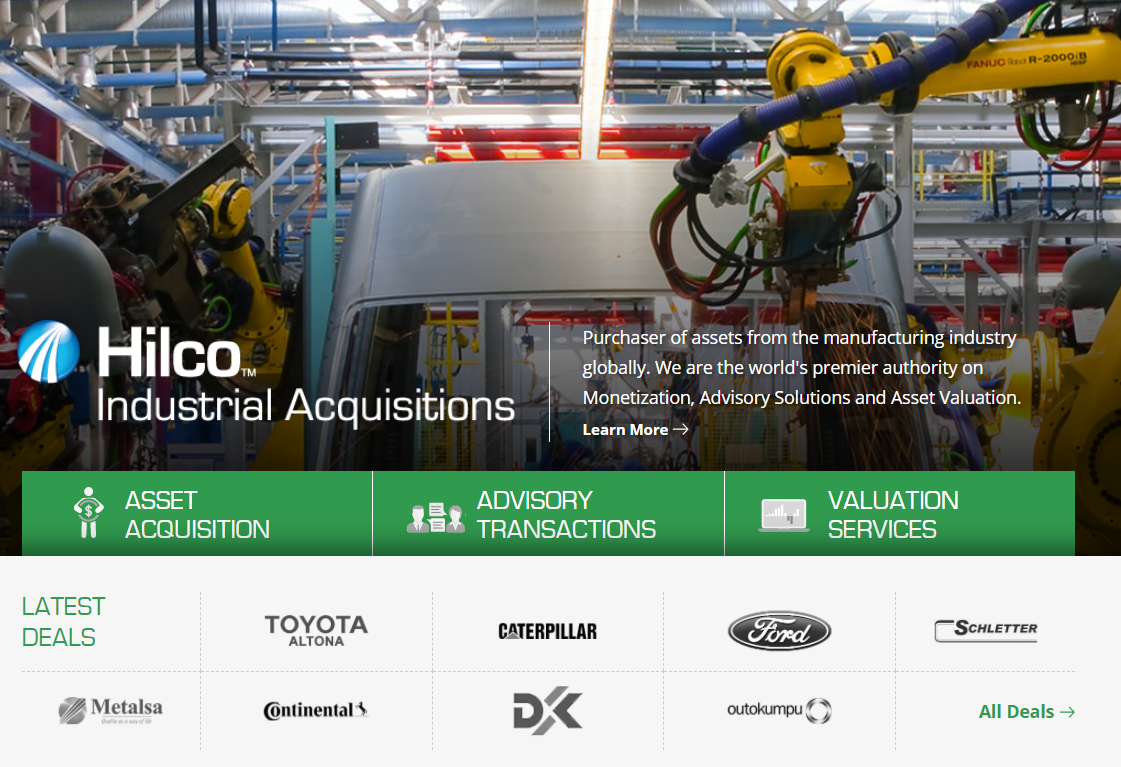 Hilco Industrial Acquisitions - Banner