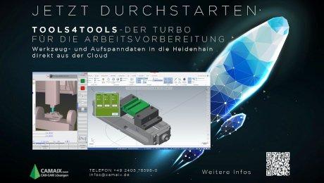 Webinar Tools4Tools: Der Turbo für die Arbeitsvorbereitung: Werkzeug- und Aufspanndaten in die Heidenhain direkt aus der Cloud - Camaix GmbH