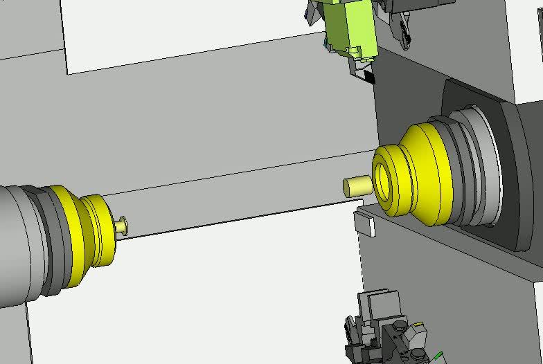 Kollisionsfreies, synchronisiertes Drehen auf Mehrkanal-Maschinen