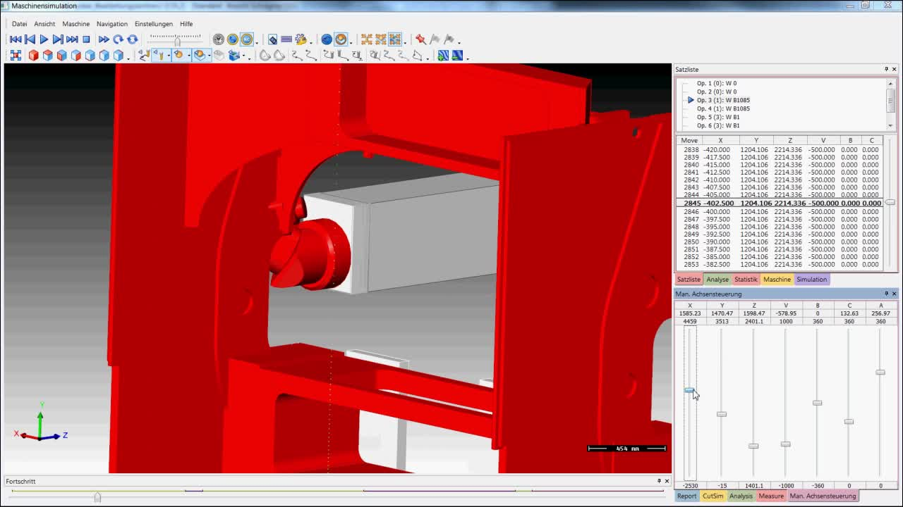 Simulation und Live Kollisionsbetrachtung Orthogonalkopf