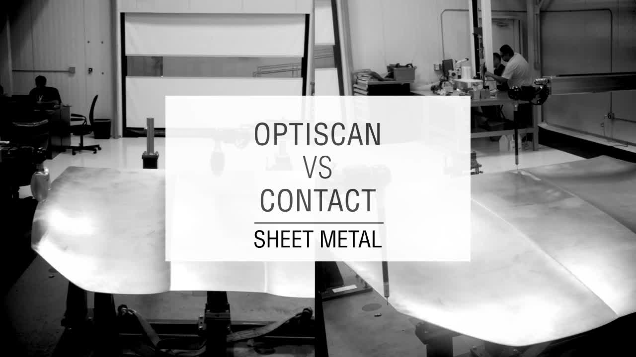 OptiScan VS Contact. Sheet metal