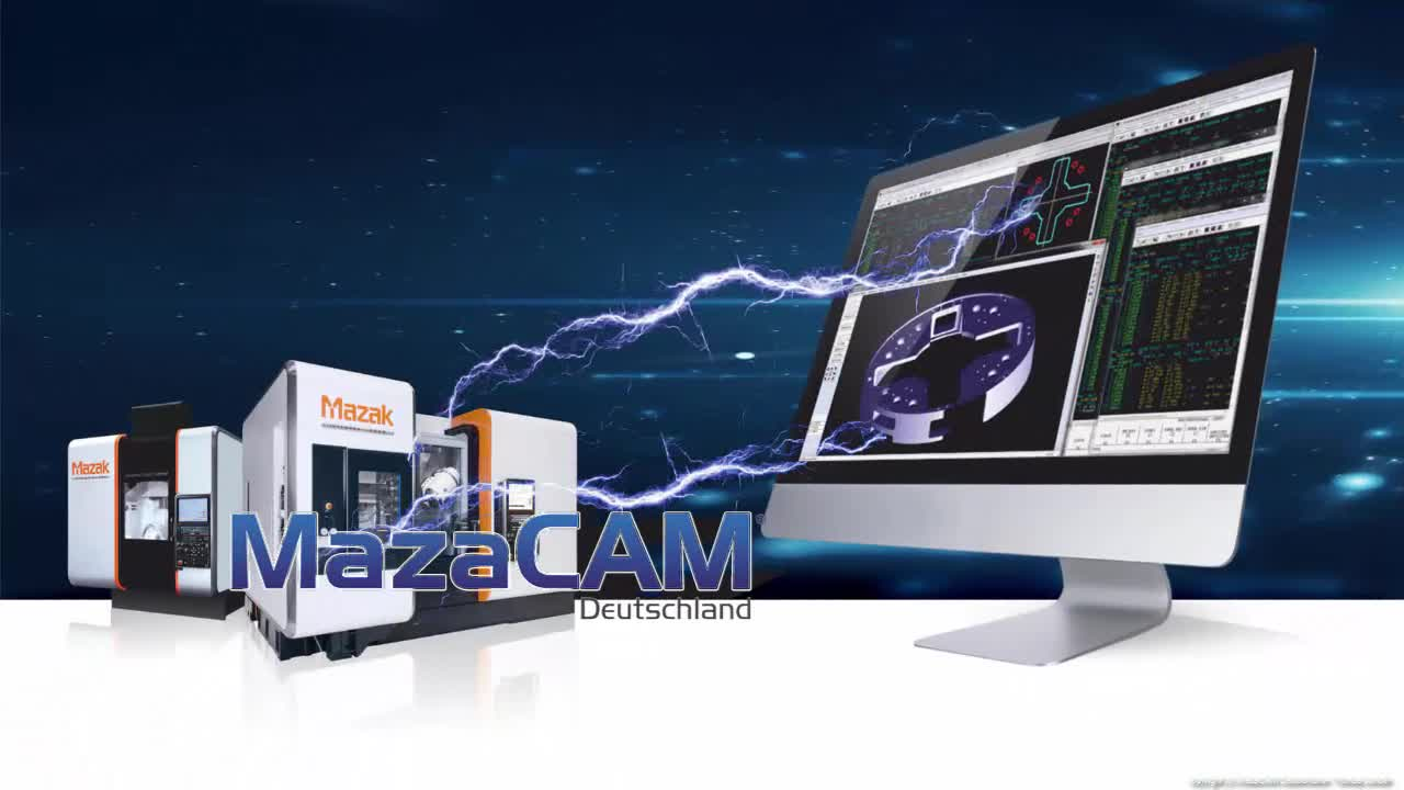 Mazak QT250-M programmiert mit MazaCAM CAD-Import