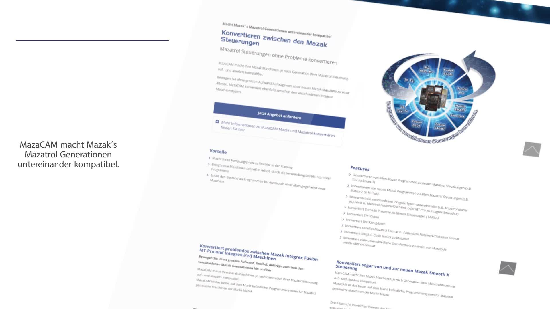www.MazaCam.de Die Software Komplettlösung für Ihre Mazak Maschinen