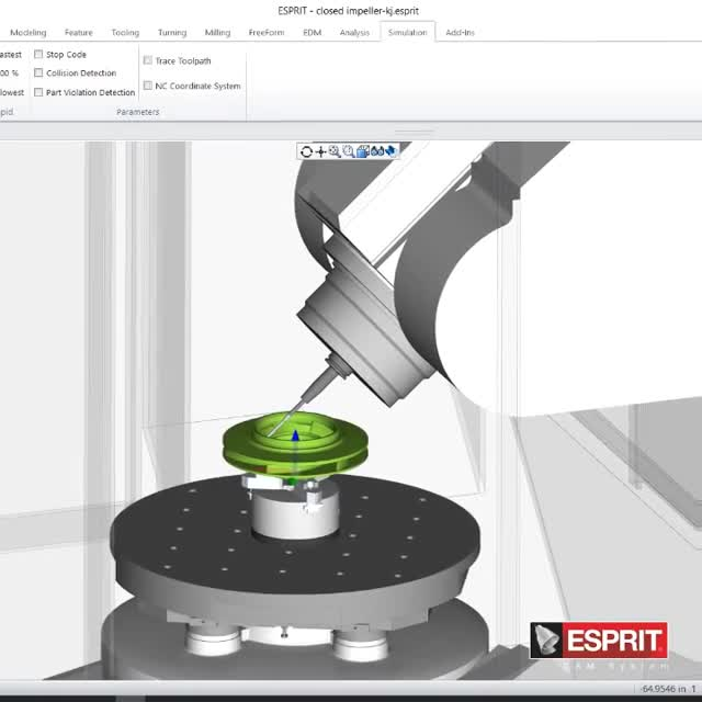 Digital Twin of a Mazak in ESPRIT CAM