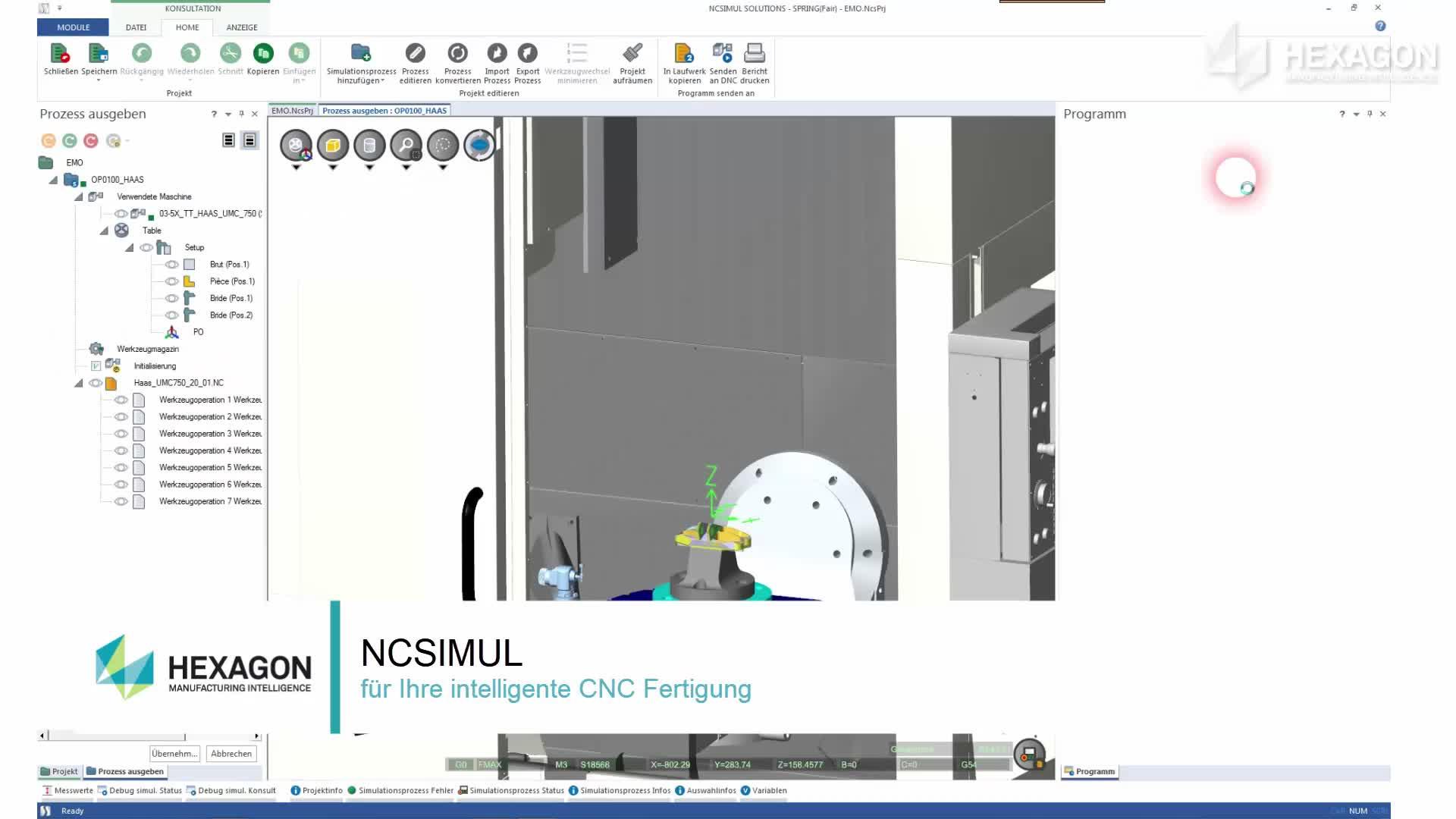 Intelligente CNC Fertigung mit NCSIMUL: Kollisionsfreie NC Programme. Automatisierte Prozesse. Flexible Produktion.