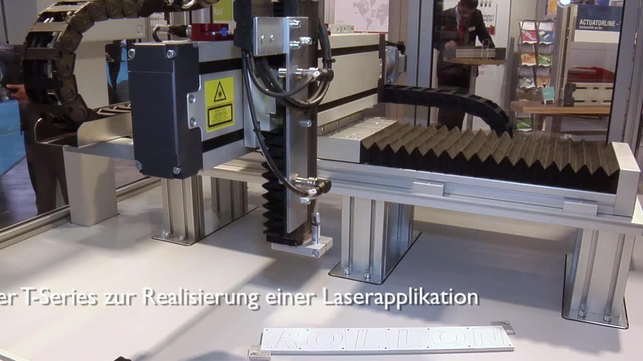 Rollon Laserapplikation - Hochpräzise Lineareinheiten mit Kugelgewindetrieb