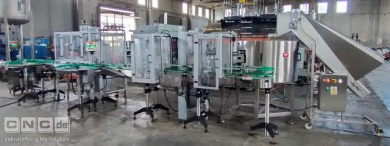 Packaging line for filling volumes