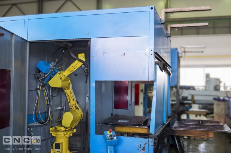 Cell with welding robot FANUC ARC MATE 100i