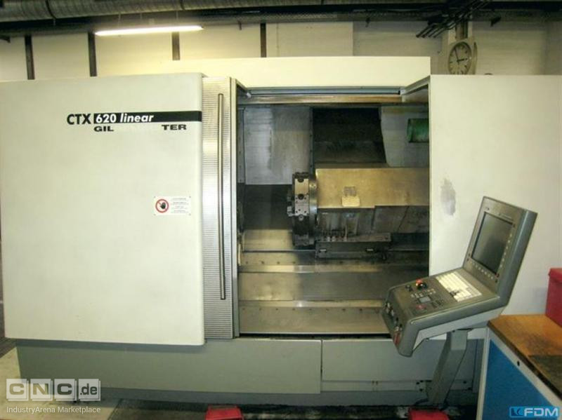 CNC Lathe - Inclined Bed Type GILDEMEISTER CTX 620 Linear V3 -1m